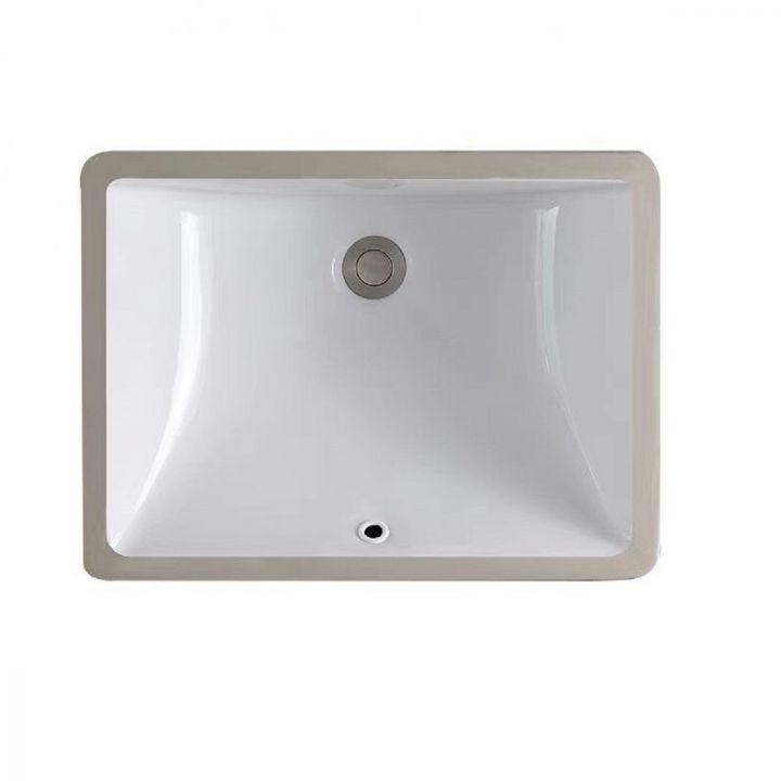 Lavoar Adela, 46x32.7 cm, montaj incastrat sub blat, ceramica alba, preaplin