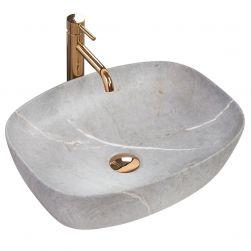 Lavoar EGO-Freja Grey, 50x38 cm, montaj pe blat, ceramica sanitara