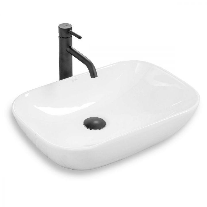 Lavoar Claudia 9447, 40x40 cm, montaj pe blat, ceramica sanitara