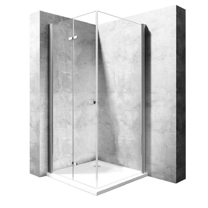 Cabina EGO-Best,Perete fix si usa Pliabila, sticla securizata 6mm,dimensiuni la alegere