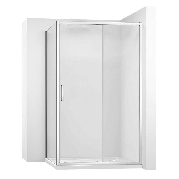Cabina EGO-Slide, perete fix si usa Glisanta, sticla securizata 6 mm, dimensiuni la alegere