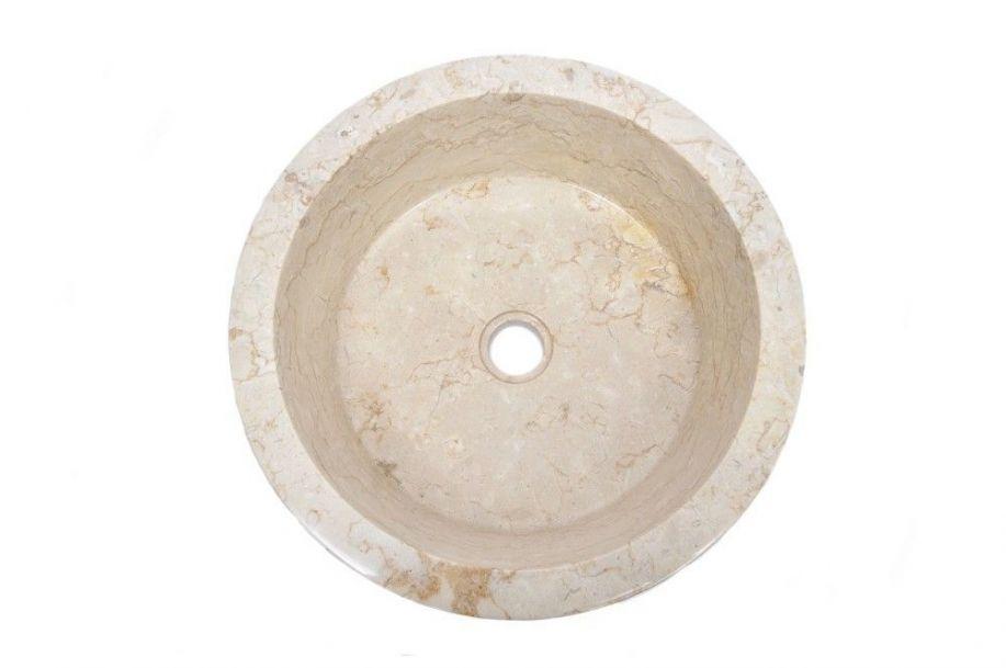Erosi brown e polished wash basin overtop
