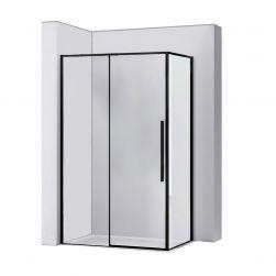 Cabina de dus, EGO-SOL Black Mat, 80x100, 90x90 si 90x120 cm, sticla transparenta securizata 6mm