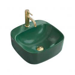 Lavoar Luiza 42 Green Mat, 42x42 cm, montaj pe blat, ceramica sanitara