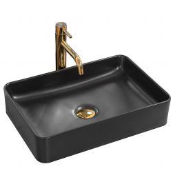 Lavoar Avia Black Mat, montaj pe blat, 50,5x34,5 cm, ceramica sanitara