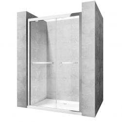 Usa dus MOVE 140 cm, sticla Safe Glass cu folie laminata, 8 mm, design modern, 2 usi culisante
