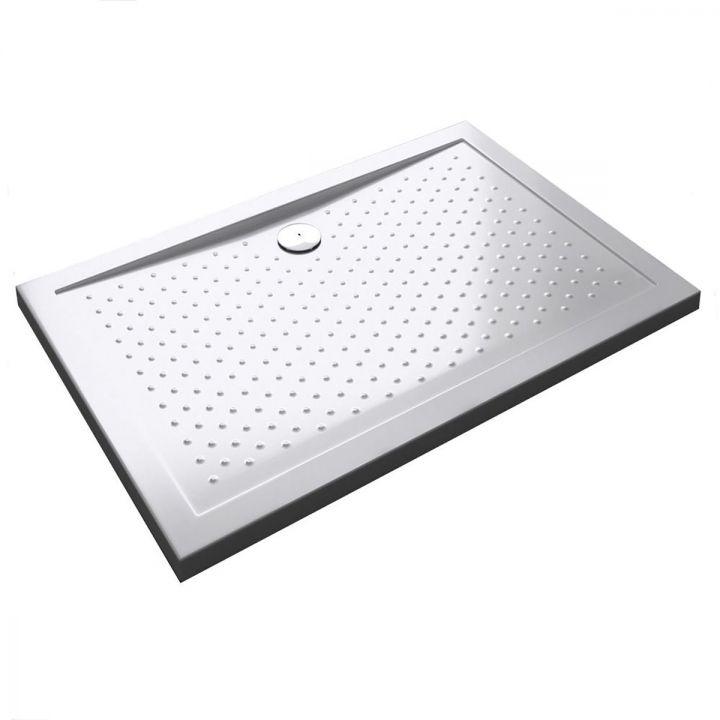 Cadita dus Slim  EGO-L, 4 cm inaltime, acril sanitar pur, anti-derapant, latimi intre 70 si 140 cm