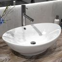 Fossil wood 40 m wash basin overtop
