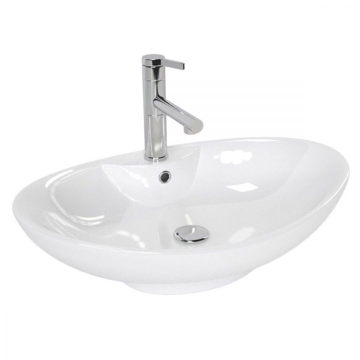 Lavoar Rosa, ceramica sanitara cu montaj pe blat , 64,5x44, design modern