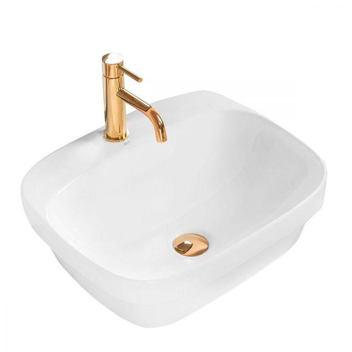 Lavoar Marika Alb, 50x42,5 cm, montaj pe blat, ceramica sanitara