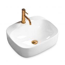 Lavoar Luiza 42 Alb, 42x42 cm, montaj pe blat, ceramica sanitara