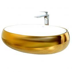 Lavoar auriu  Melanie JW, 60x40 cm, montaj pe blat, design exclusivist, ceramica sanitara