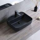 Lavoar Martina Negru Mat, 51x40,5 cm, montaj pe blat, ceramica sanitara