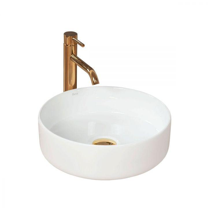 Lavoar EGO Sami, 36x36 cm, montaj pe blat, ceramica sanitara