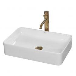 Lavoar EGO Avia, montaj pe blat, 51x34,5 cm, alb lucios, ceramica sanitara