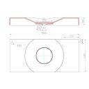 Dn-p onyx e 40x15 cm wash basin overtop