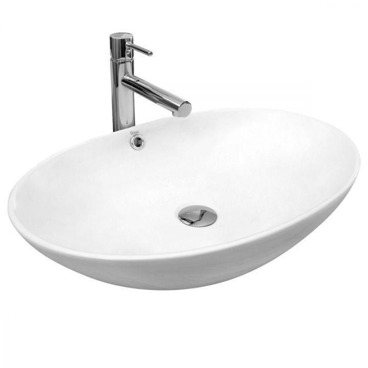 Lavoar EGO-OLG, 63,5 x 42 x 15,5 cm, montaj pe blat, ceramica sanitara