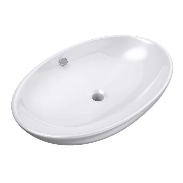 Lavoar EGO-306, ceramica sanitara, culoare Alb lucios , montaj pe blat, 63x42 cm
