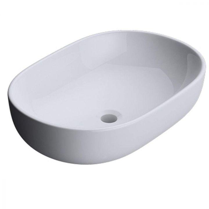 Lavoar EGO-322, ceramica sanitara, culoare Alb lucios , montaj pe blat, 60x42 cm