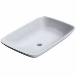 Lavoar EGO-159, ceramica sanitara, culoare Alb lucios , montaj pe blat, 58x37 cm