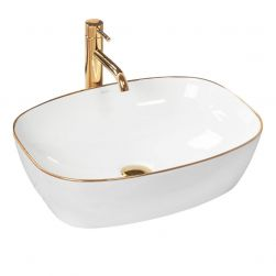 Lavoar EGO Sol, montaj pe blat, 50x38,5 cm, ceramica sanitara