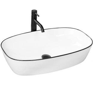 Lavoar EGO Jovita, montaj pe blat, 60x30 cm, ceramica sanitara