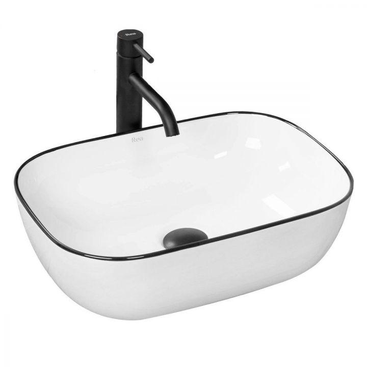 Lavoar EGO Marbel,montaj pe blat, 45,5x32,5 cm, ceramica sanitara