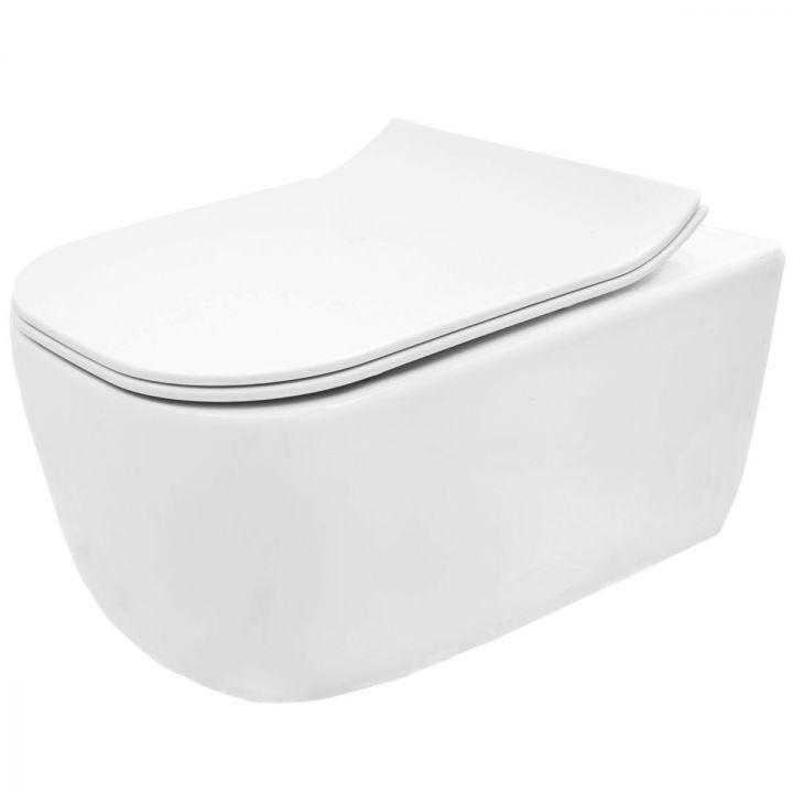 Vas wc EGO-MAT, suspendat, RImless-fara bordura, capac Duroplast inclus
