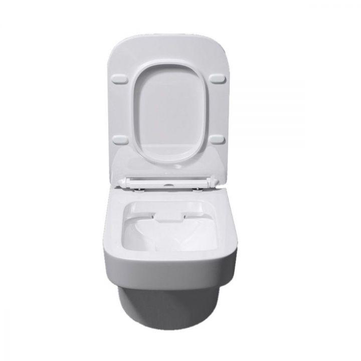 Vas wc EGO311, suspendat, Tehnologie de spalare fara bordura, capac soft-close