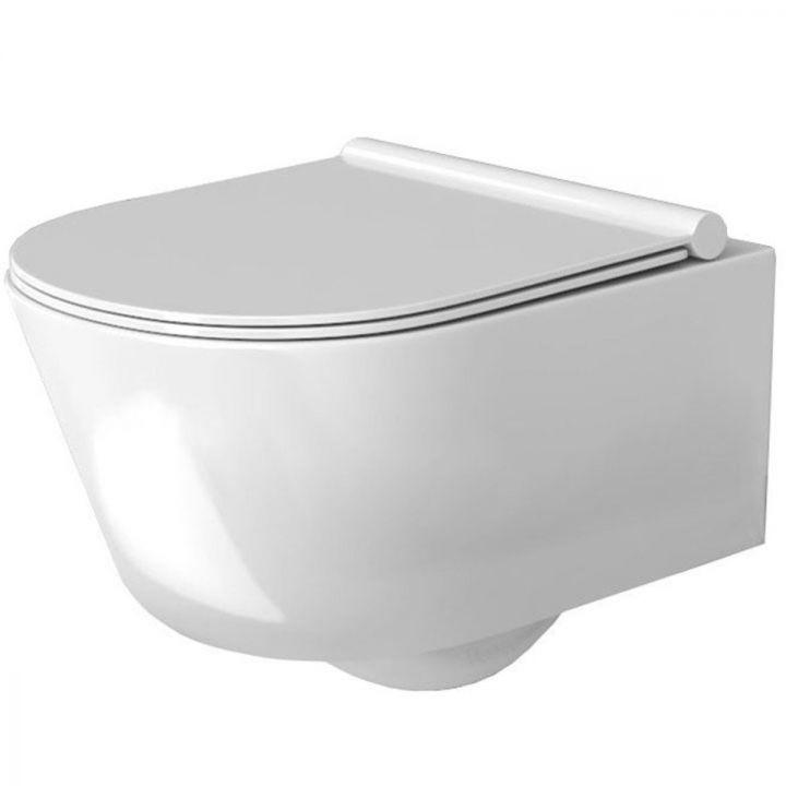 Vas wc suspendat Porter RIMLESS, fara margine pentru o igiena perfecta, capac soft-close gratuit