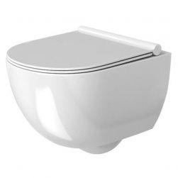 Vas wc suspendat Carter RIMLESS, fara bordura, pentru o igiena perfecta, capac Duroplast
