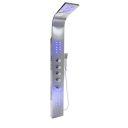 Panel dus EGO-9997, iluminare LED ,otel inoxidabil, finisaj crom, Cascada,  ploaie si hidromasaj