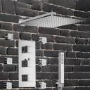 Sistem dus EGO Z1, montaj incastrat, termostat, dus tip ploaie 30x30 cm