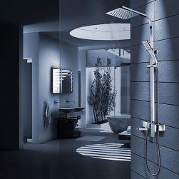 Sistem dus Navaro, complet, ploaie de dus ultra slim, design modern, baterie Cada