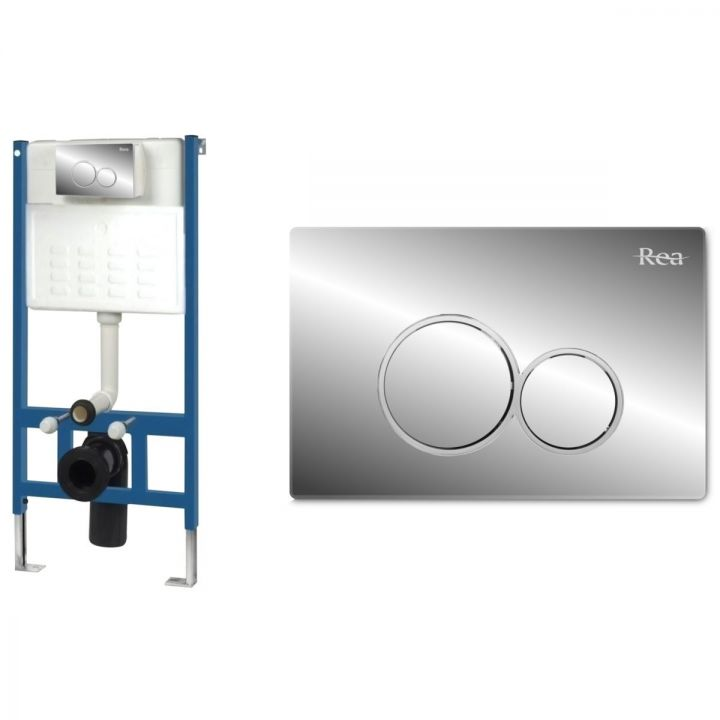 Cadru cu rezervor incastrat pentru WC, Clapeta de actionare inclusa E Crom