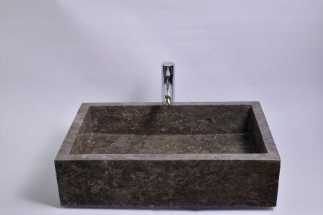 Lavoar piatra Ego RK-P GREY I 60x40 cm wash basin overtop