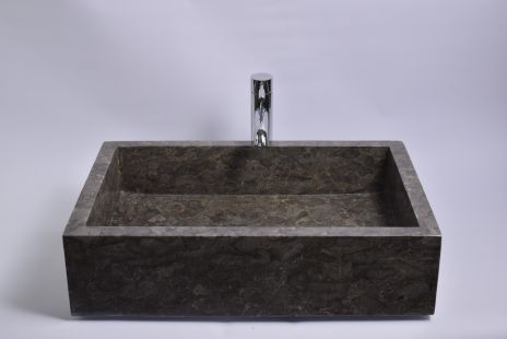 Lavoar piatra Ego RK-P GREY H 60x40 cm wash basin overtop