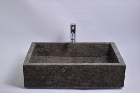 Lavoar piatra Ego RK-P GREY G 60x40 cm wash basin overtop