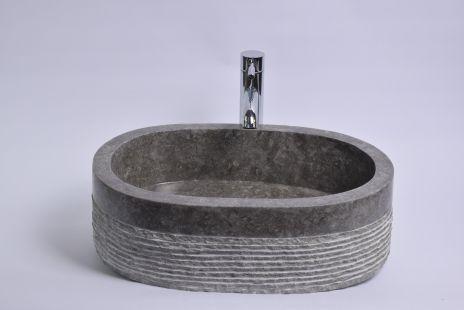 Lavoar piatra Ego WO OVAL GREY B 50x35 cm wash basin overtop