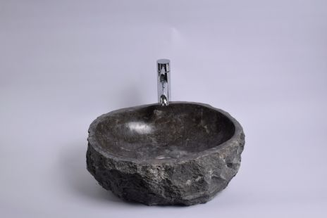 Lavoar piatra Ego EROSI Grey N doreng wash basin overtop