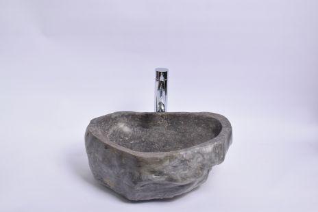 Lavoar piatra Ego EROSI Grey E polished wash basin overtop