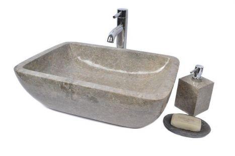Lavoar piatra Ego TCN-P GREY E 50x35 cm wash basin overtop
