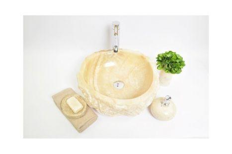 Lavoar piatra Ego NOY-B Onyx H wash basin overtop