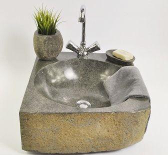 Lavoar piatra Ego RIVER STONE TRANGAN LARGE B wash basin overtop
