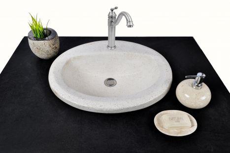 Lavoar piatra Ego TERRAZZO INLAY WHITE wash basin countertop