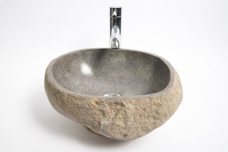Lavoar piatra Ego RIVER STONE RSB1 Q22 wash basin overtop