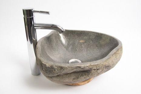 Lavoar piatra Ego RIVER STONE RSB1 Q19 wash basin overtop