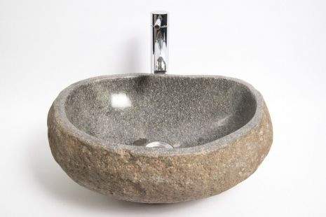 Lavoar piatra Ego RIVER STONE RSB1 Q18 wash basin overtop