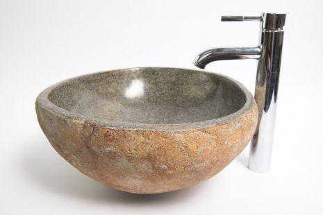 Lavoar piatra Ego RIVER STONE RSB1 Q17 wash basin overtop