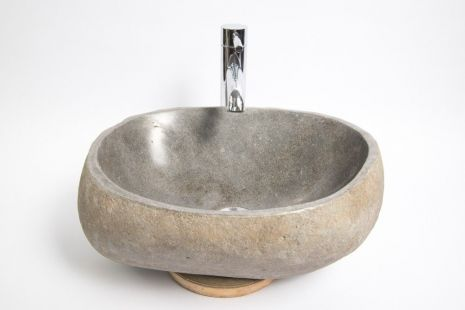 Lavoar piatra Ego RIVER STONE RSB1 Q16 wash basin overtop